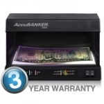 AccuBanker D63 Counterfeit Bill Detector with Ultraviolet and Fluorescent Detection