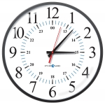 Electric Analog Clock, 12/24-Hr Face, 13' Size