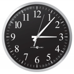 Battery Analog Clock, Black 12-Hr Face, 13' Size