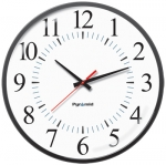 Battery Analog Clock, 12-Hr Face, 17' Size