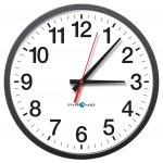 Network Analog Clock with POE Capabilities, 12-Hr Face, 13' Size