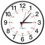 Network Analog Clock with POE Capabilities, 12-Hr w/Seconds Face, 13' Size