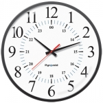 Battery Analog Clock, 12/24-Hr Face, 17' Size