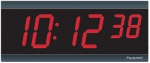 Electric Digital Wall Clock - 2.5' 6-Digits - Syncronized to NTP Time