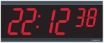 Network Digital Wall Clock - 4' 6-Digits - POE Capable